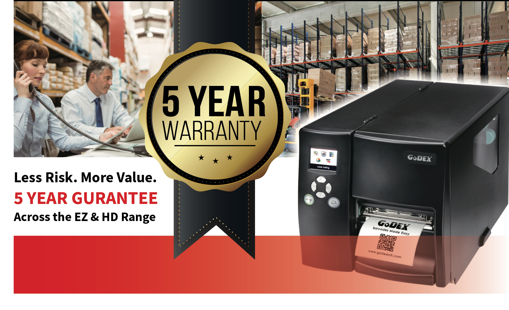5 year GoDEX warranty